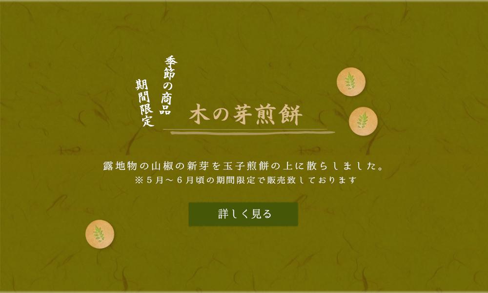 【季節の商品・期間限定】木の芽煎餅